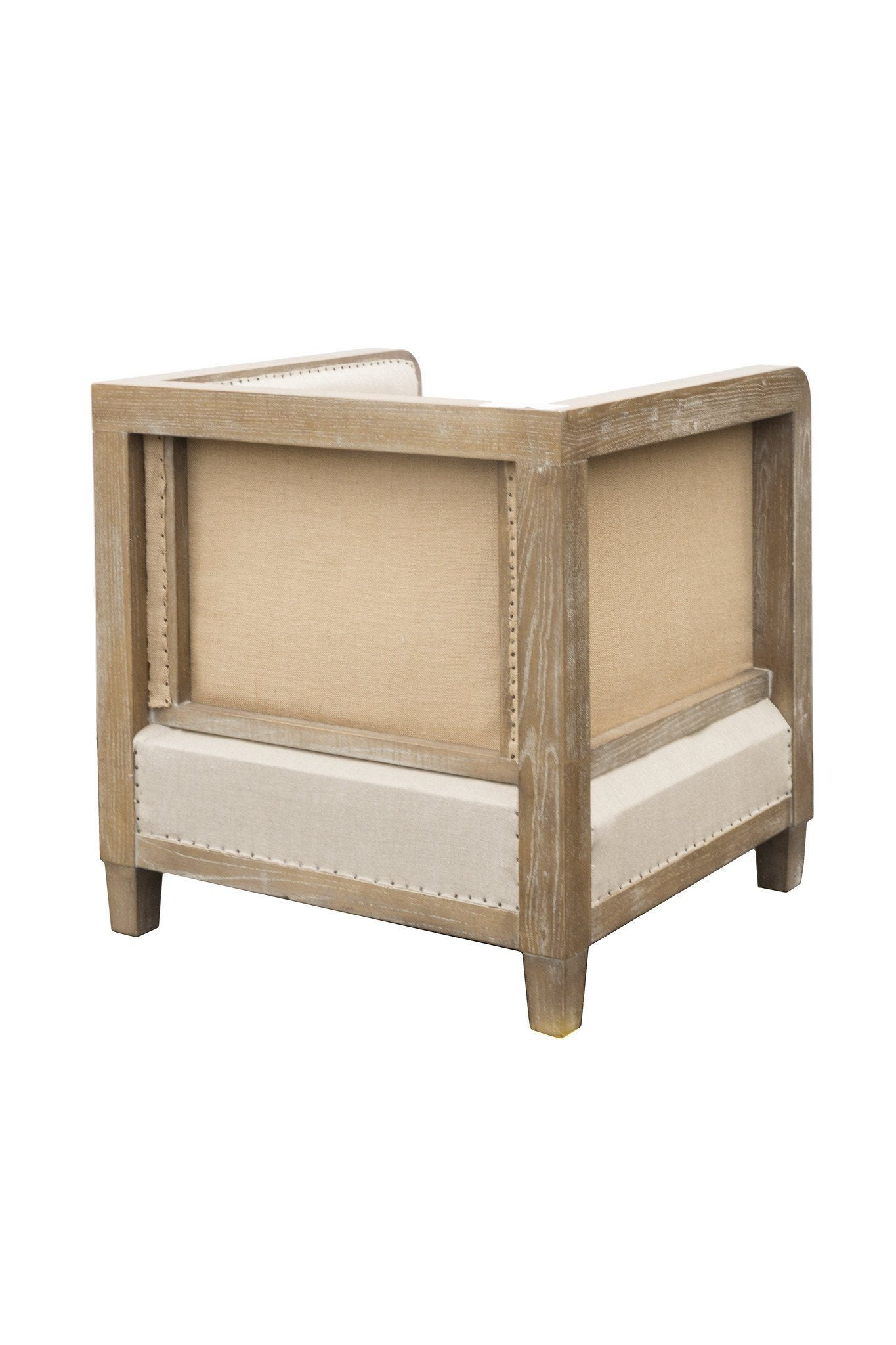 Deconstructed Club Chair - Antique Linen - Calgary Furniture Stores