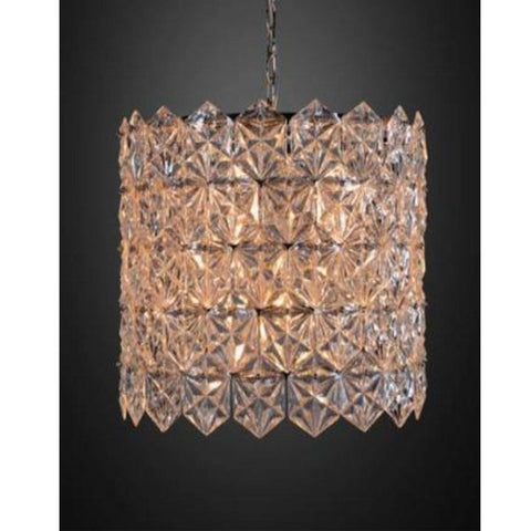 Metal Pendant Light - Antique Brass Finish