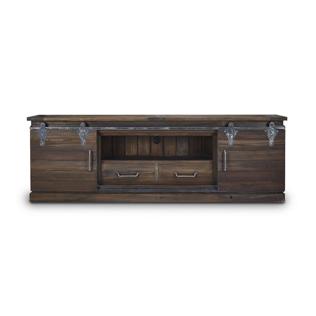 Sonoma Narrow Media Console 7' Cabinet Bramble