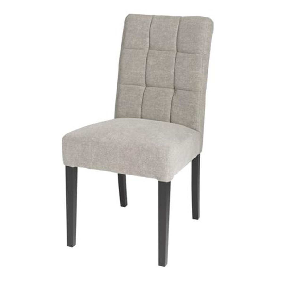 STYLISH DINING CHAIR WITH LIGHT GREY LINEN FABRIC - Showhome Furniture