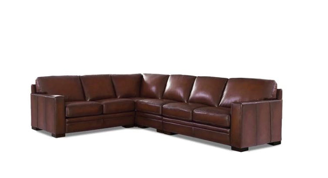 Chatsworth Genuine Amax Leather Sectional Sectionals Showhome Furniture