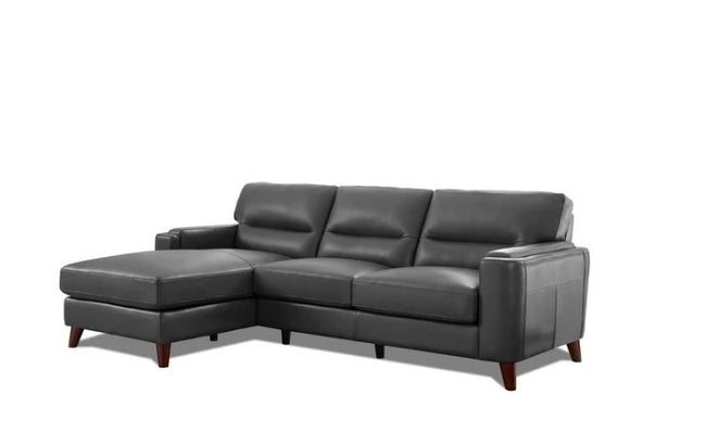 Miami Left-Hand Facing Top Grain AMAX Leather Sectional Sectionals Showhome Furniture