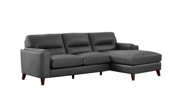 Miami Right-Hand Facing AMAX Leather Sectional Sectionals Showhome Furniture