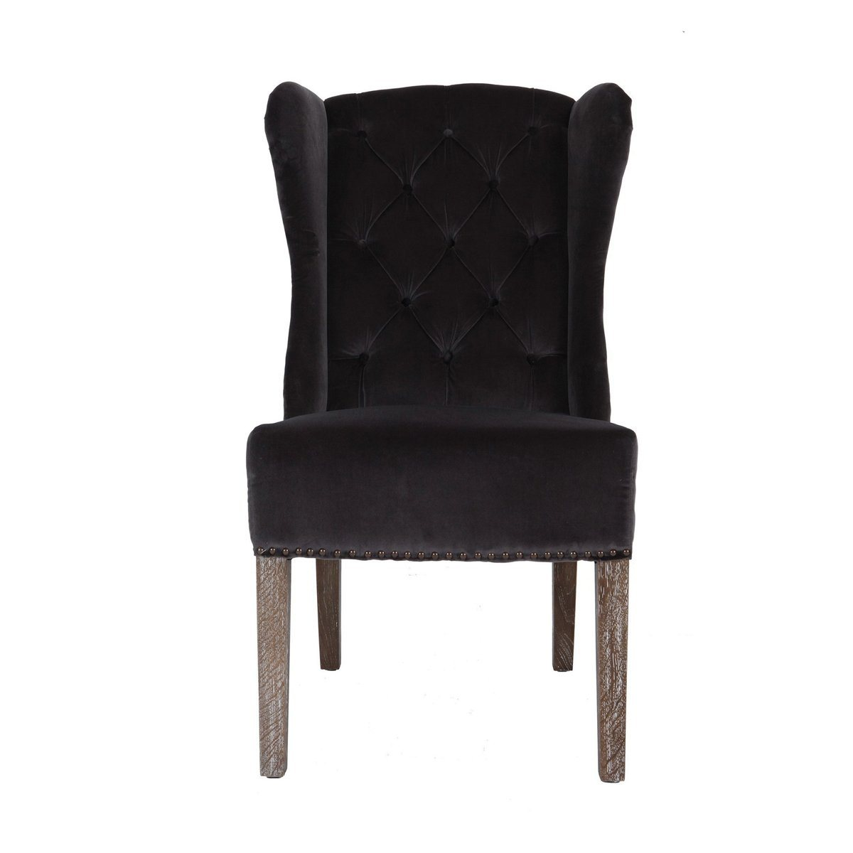 TAUPE VELVET / OAK OCCASIONAL CHAIR - Showhome Furniture