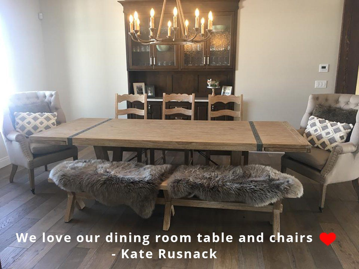 "Large Extension Dining Table (72""/96"") - African Dusk Dining Tables LH"