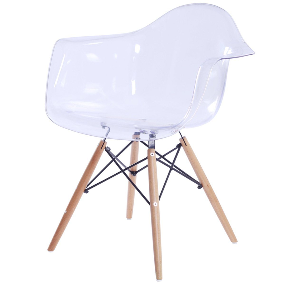 CAPTAIN TUB CHAIR - TRANSPARENT - Showhome Furniture