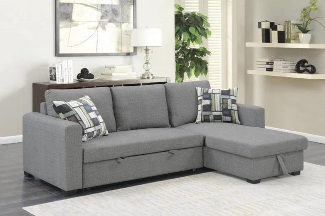 Langley Reconfigurable Storage Chaise And Sleeper Loveseat - Emerald | Showhome Furniture