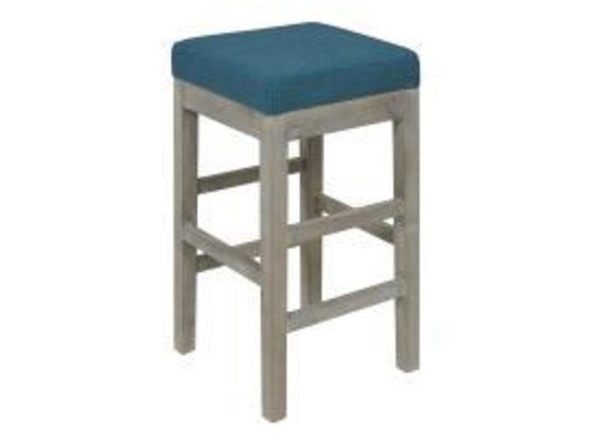 Valencia Backless Counter Stool Mystique Gray Legs, Aegean Bar Stools NPD