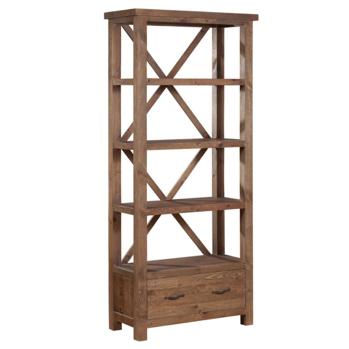 Alfresco Bookcase - Rustic Tawny - Showhome Furniture