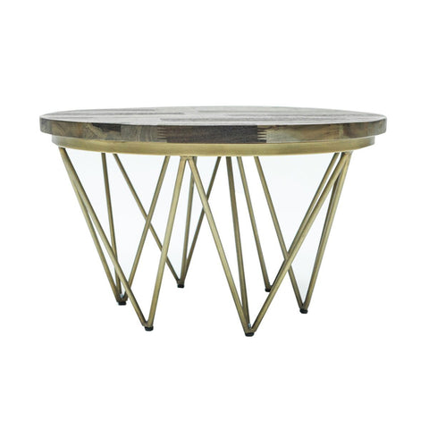 Mixed Solid Wood ROUND COFFEE TABLE - Showhome Furniture
