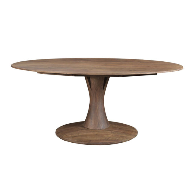 Canmore Oval Dining Table in Light Brown Matte | Calgary's Furniture Store