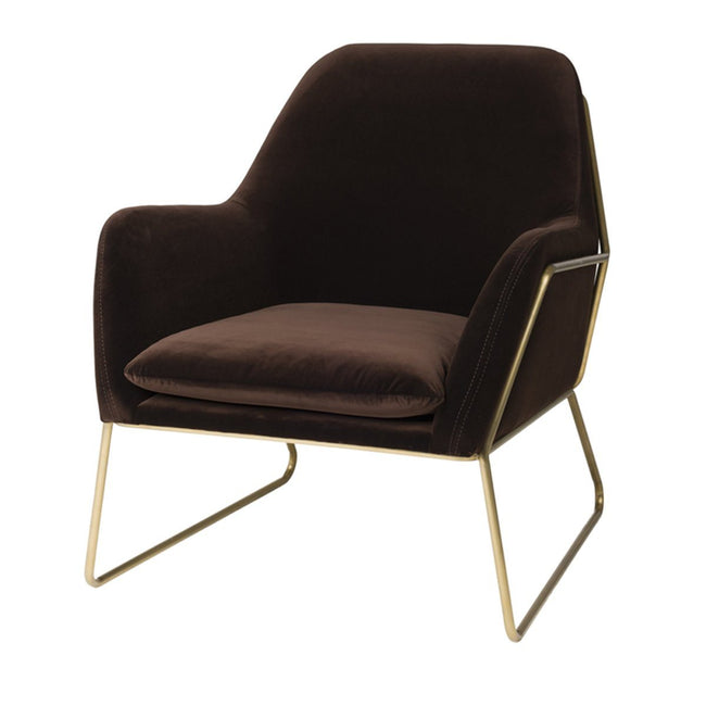 ARCHER CLUB CHAIR - VELVET JAVA Chairs LH