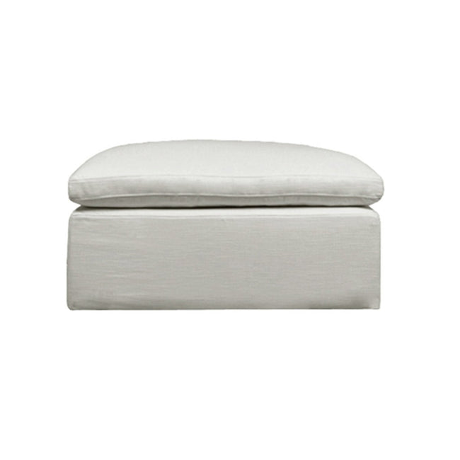 Halsey Ottoman - Natural Linen - Showhome Furniture