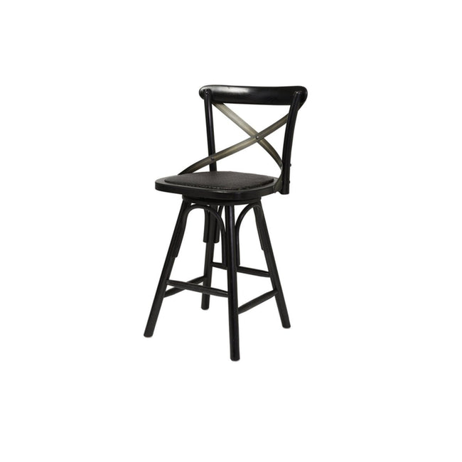 CROSSBACK COUNTER STOOL - BLACK - Showhome Furniture