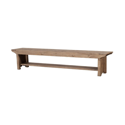 Post & Rail Desk - Modern Grey Solid Wood