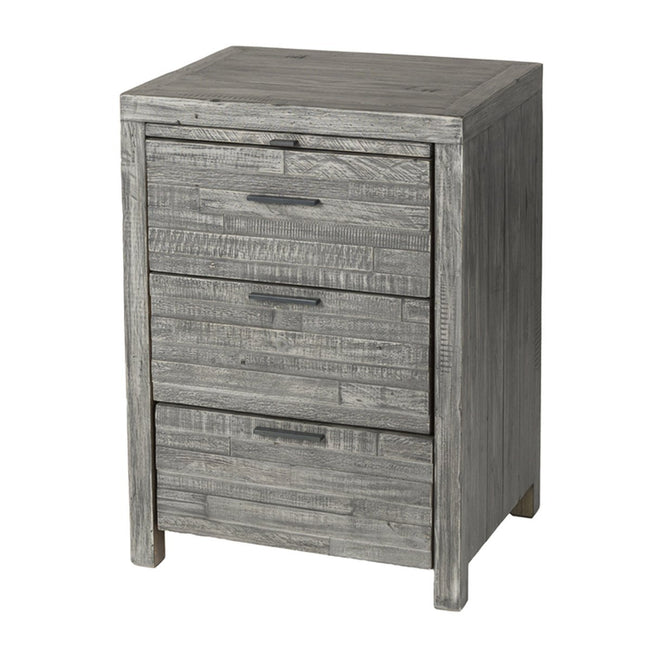 Solid Wood NIGHTSTAND - GREY WASH - Showhome Furniture