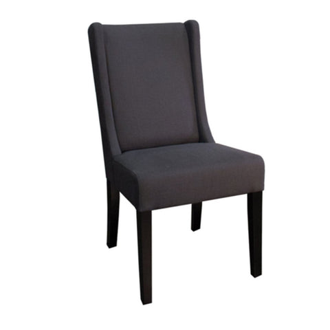 Aaron Sloping Arm Chair Dark Brown Legs, Rice