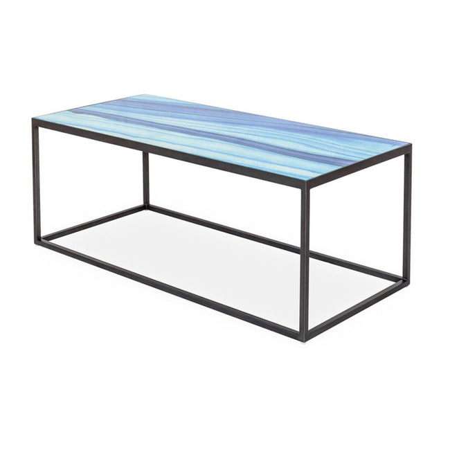 INDIGO GLASS COFFEE TABLE - SEASIDE Coffee Table LH