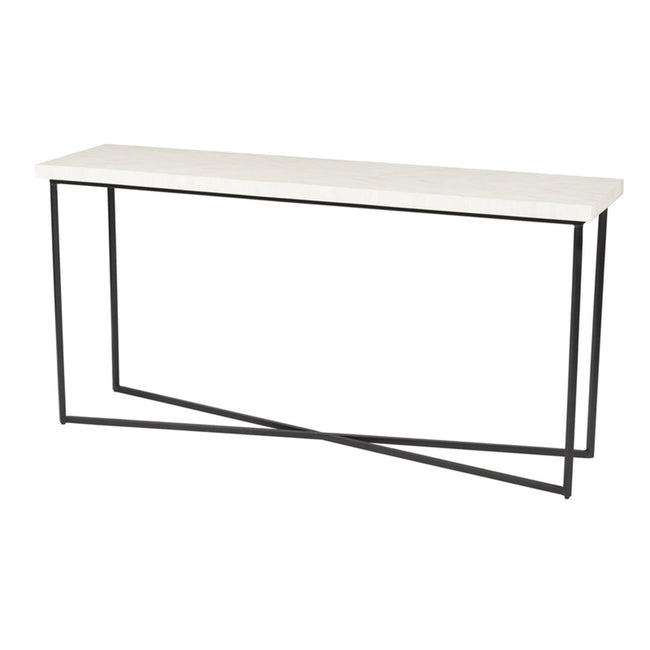 5TH AVENUE CONSOLE TABLE - BONE INLAY | Showhome Furniture