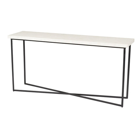 5TH AVENUE CONSOLE TABLE - BONE INLAY - Showhome Furniture