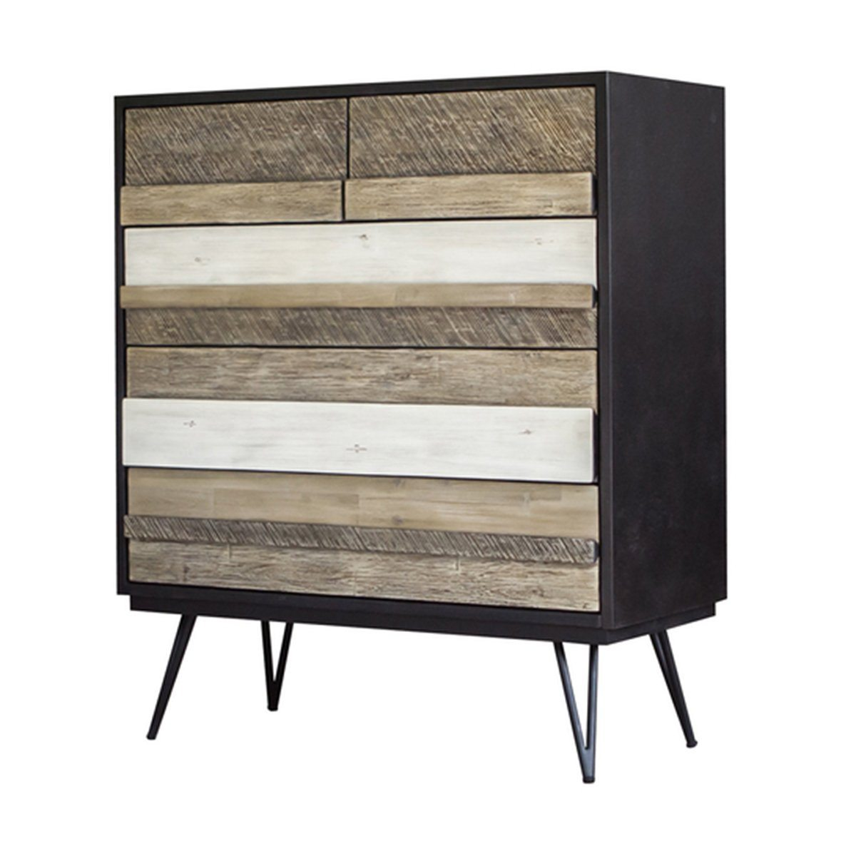 NOIR HAVANA 5 DRAWER CHEST - Showhome Furniture