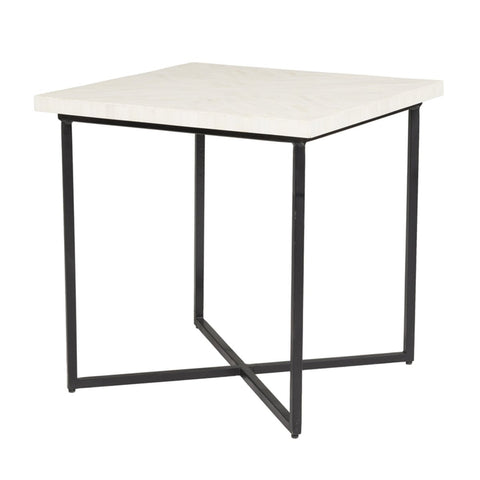 5TH AVENUE SIDE TABLE - BONE INLAY - Showhome Furniture
