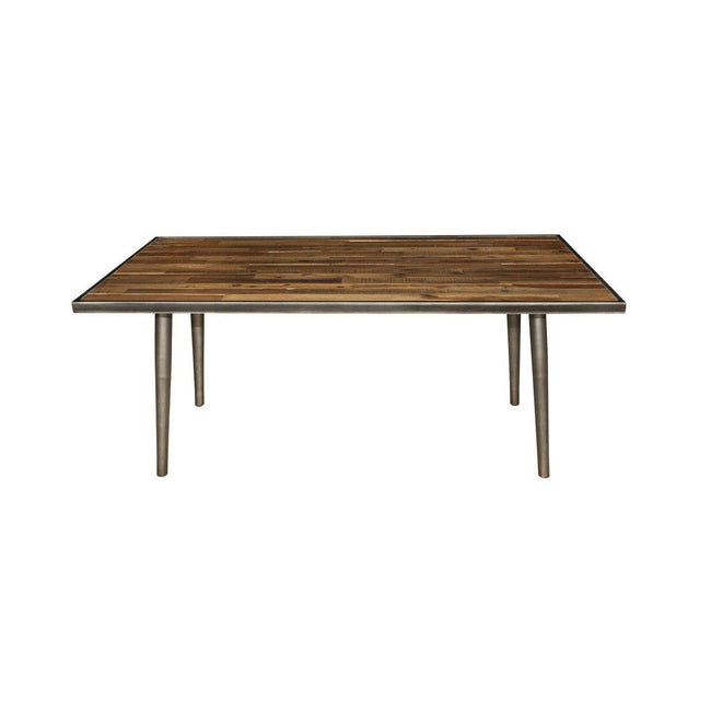 SOLID ACACIA WOOD Vintage Dining Table - Showhome Furniture