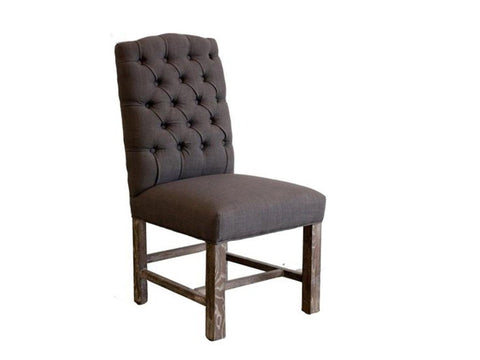 Bentley Fabric Nailhead Chair, Drizzle Gray
