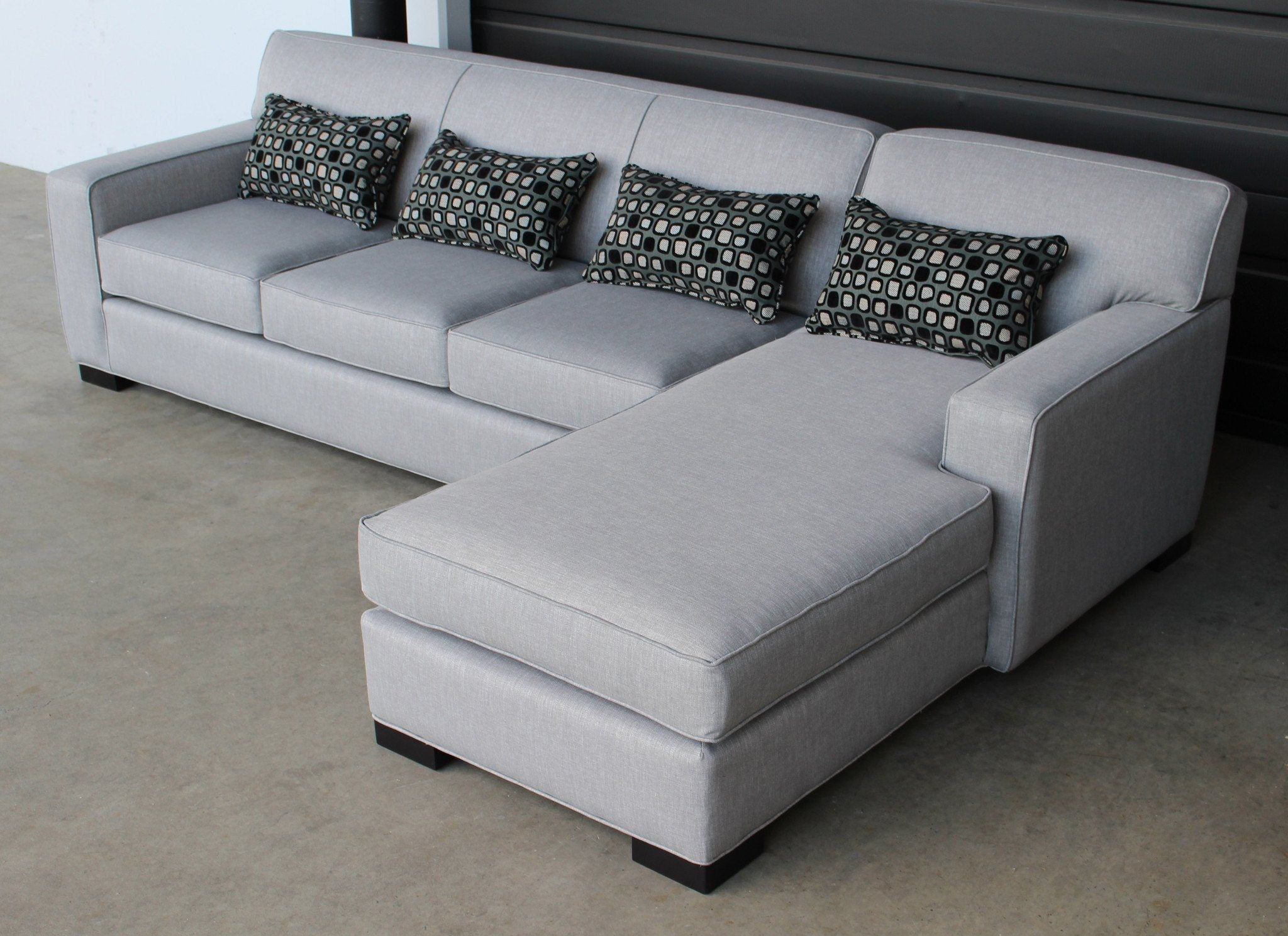 Arsenio Sofa Chaise Sectional - Made in Canada - Showhome Furniture