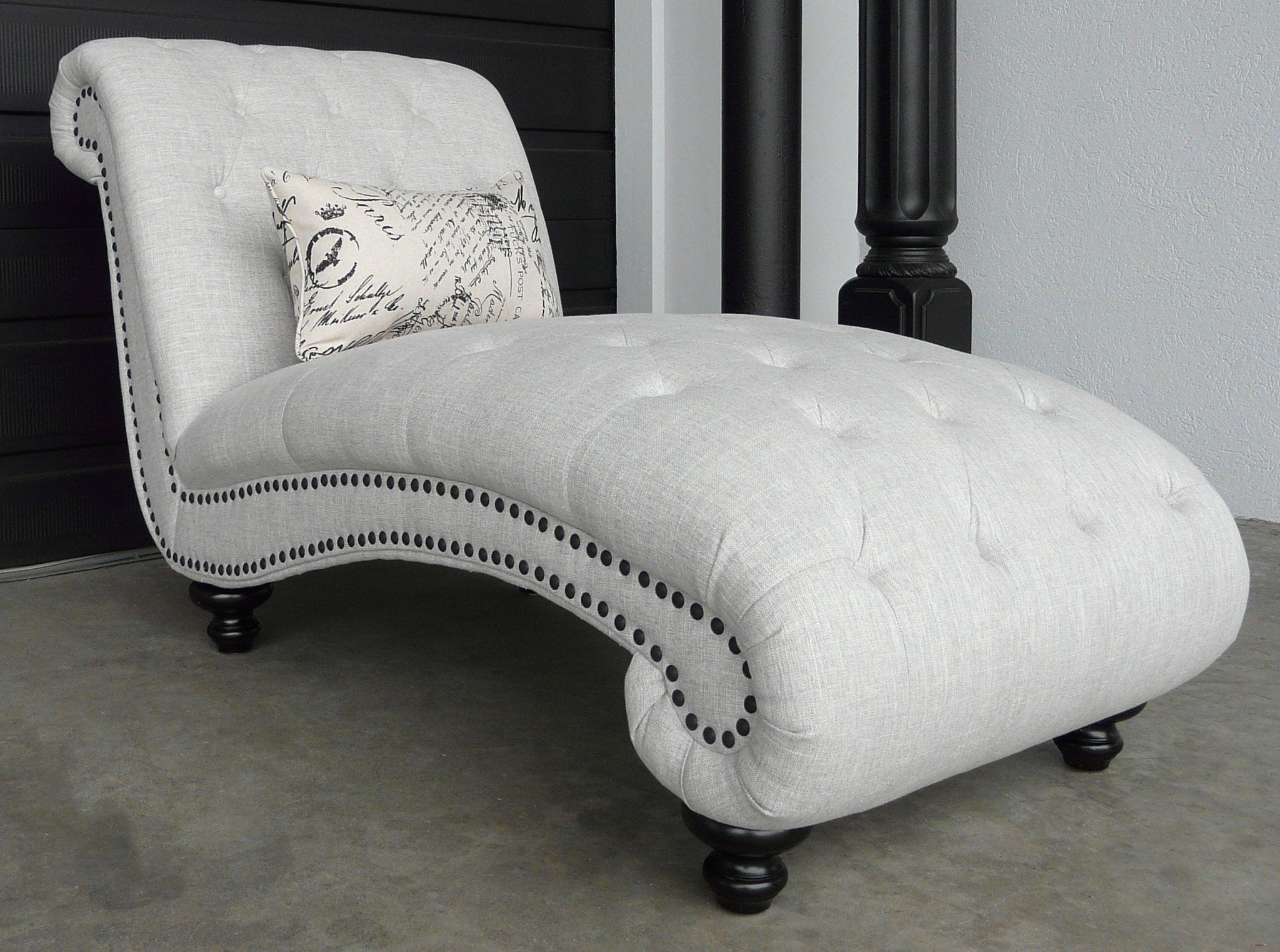Beverly Tufted Chaise - Calgary Furniture
