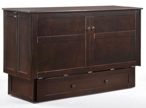 Clover Murphy Bed Cabinet - Cherry and Dark Chocolate Available | Calgary's Furniture Store