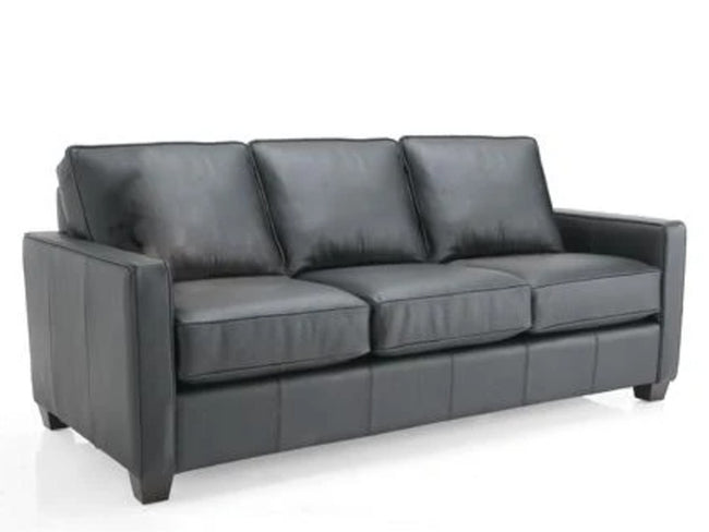 3855 Decor Rest Leather Sofa, Made in Canada 🇨🇦 | Calgary's Furniture Store