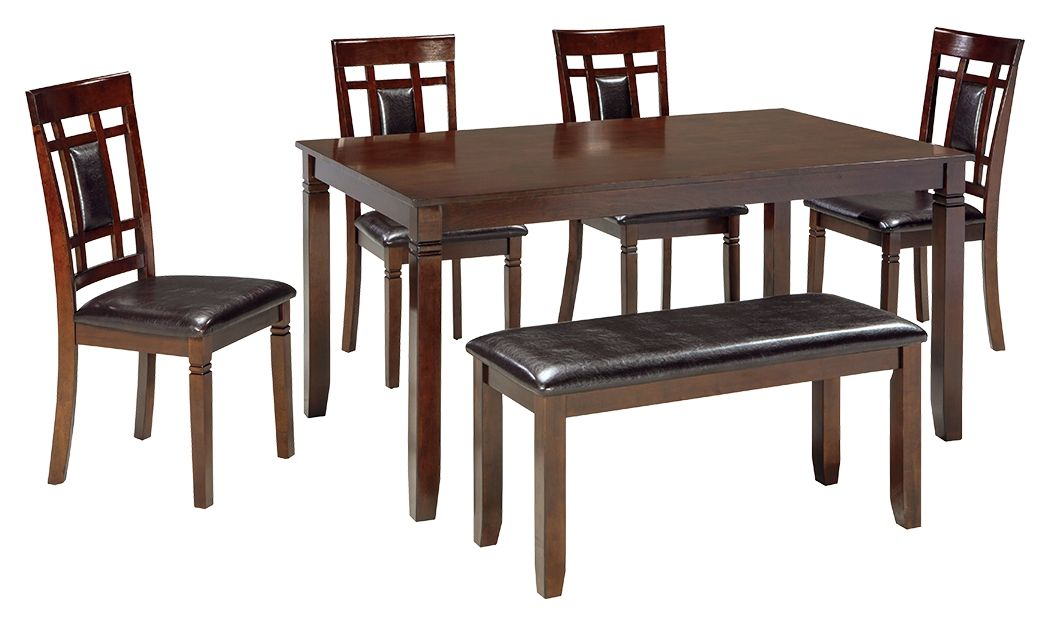Bennox Dining Room Table and Chairs with Bench (Set of 6) | Calgary's Furniture Store