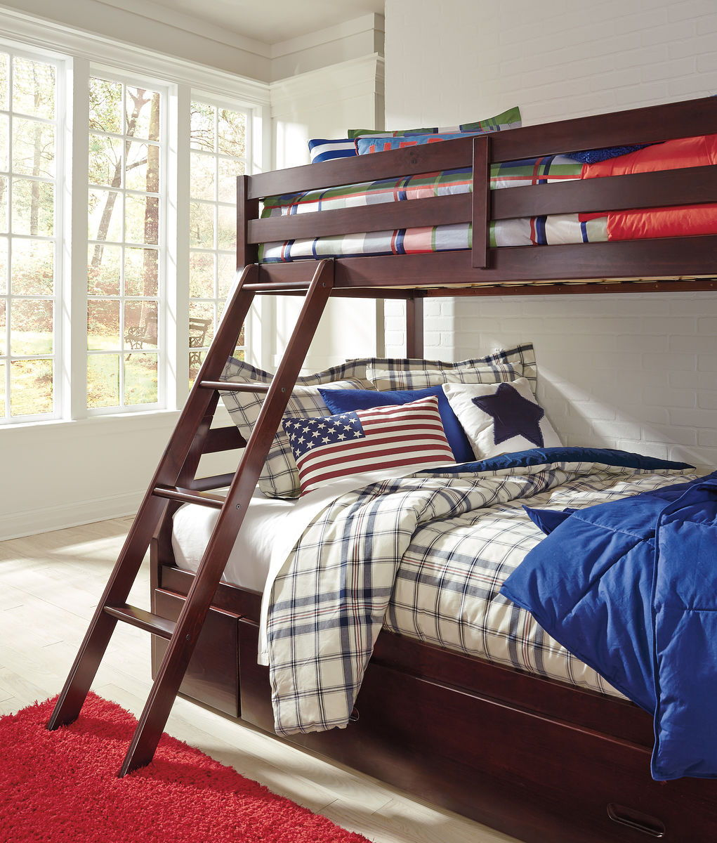 Halanton Bunk Bed with 1 Large Storage Drawer | Calgary's Furniture Store
