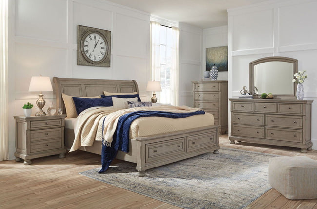 Lettner Sleigh Bed | Calgary's Furniture Store