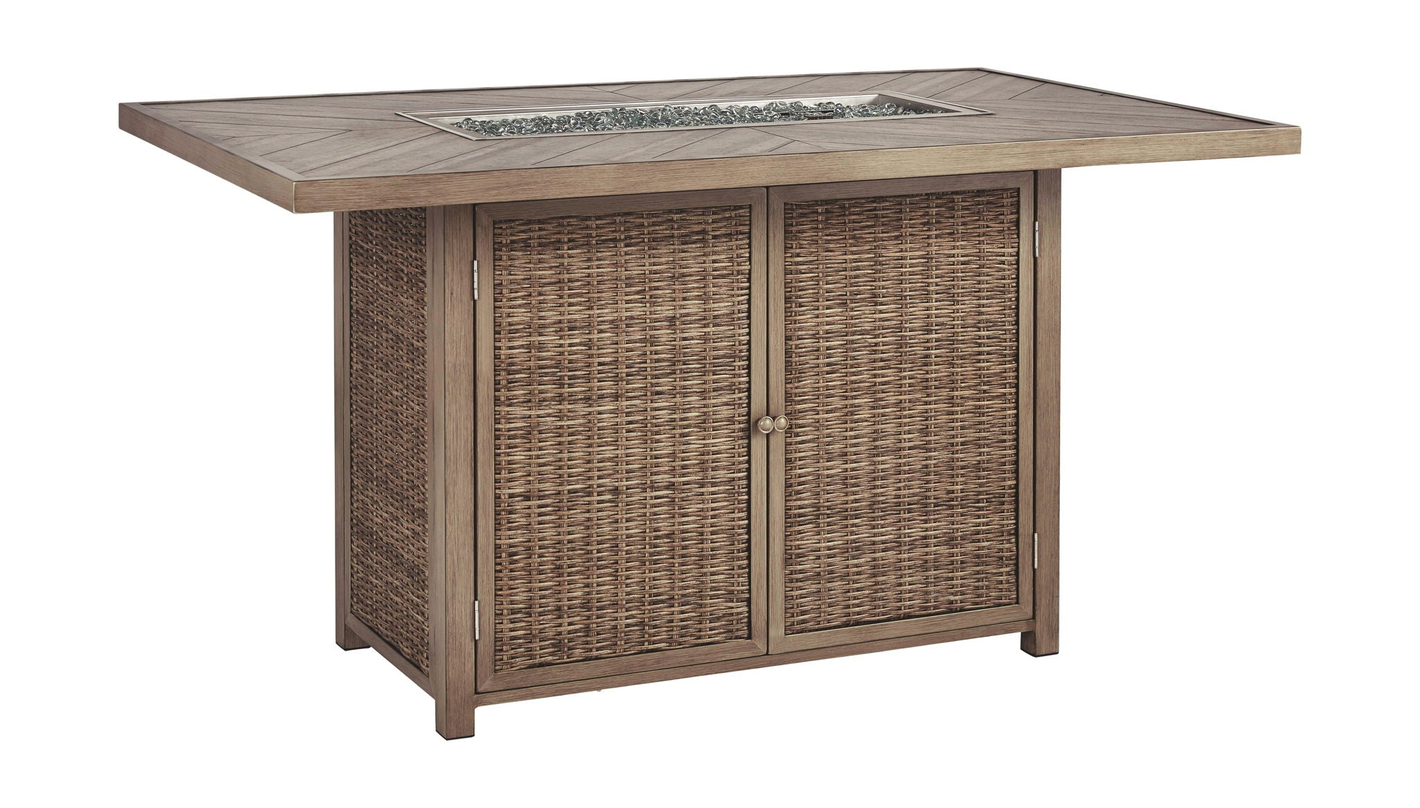 Beachcroft Bar Table with Fire Pit | Calgary's Furniture Store