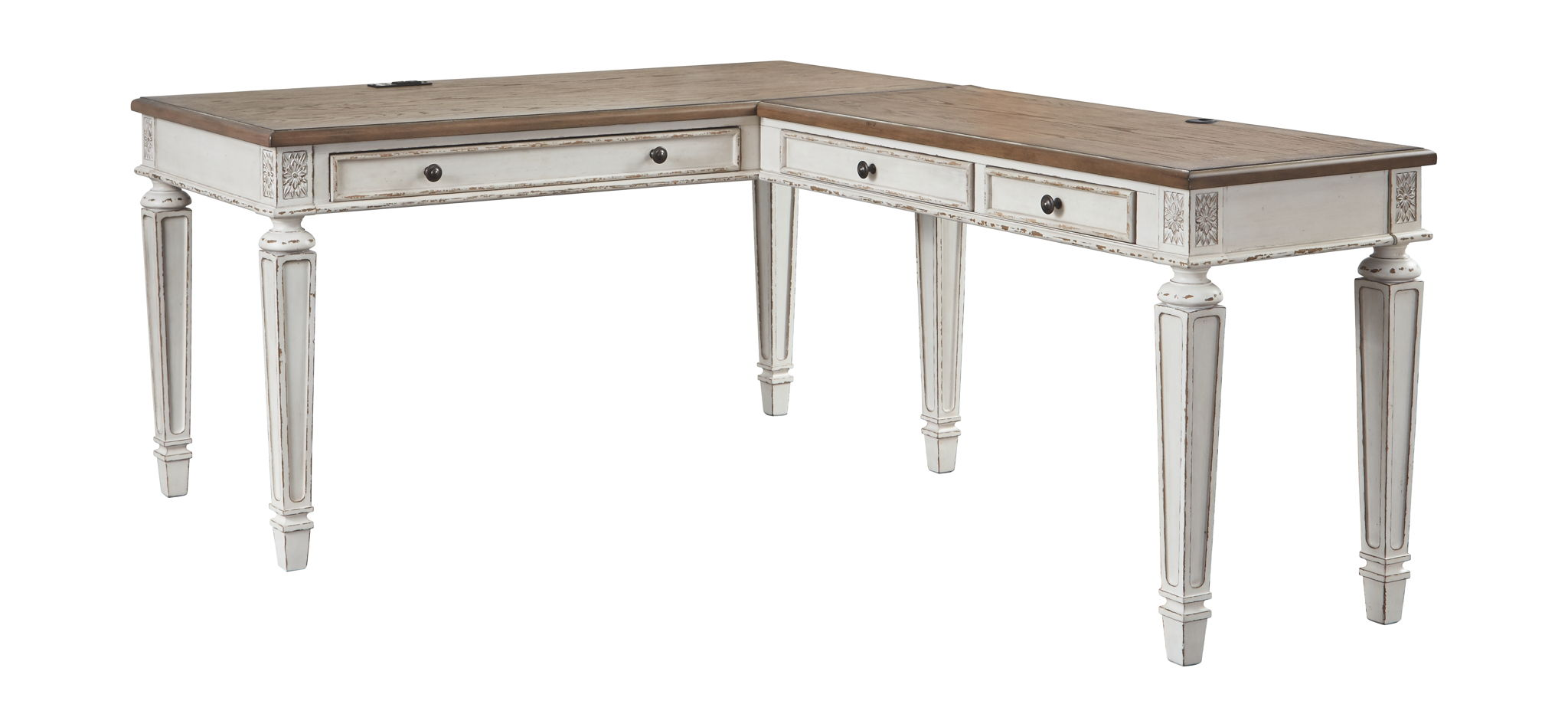 Realyn 2-Piece Home Office Desk | Calgary's Furniture Store