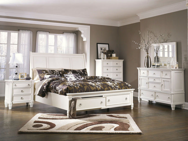 Prentice Storage Sleigh Bed | Calgary's Furniture Store