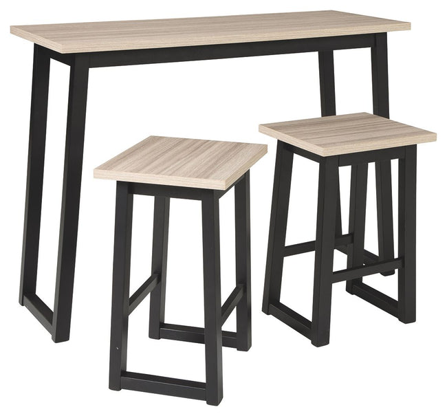 Waylowe Counter Height Dining Room Table and Bar Stools (Set of 3) | Calgary's Furniture Store