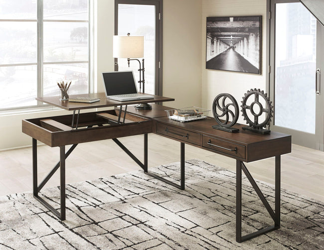 Starmore 2-Piece Home Office Lift Top Desk | Calgary's Furniture Store