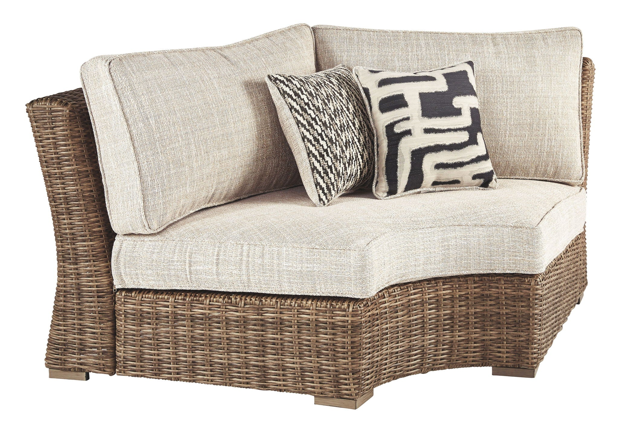 Beachcroft Curved Corner Chair with Cushion | Calgary's Furniture Store