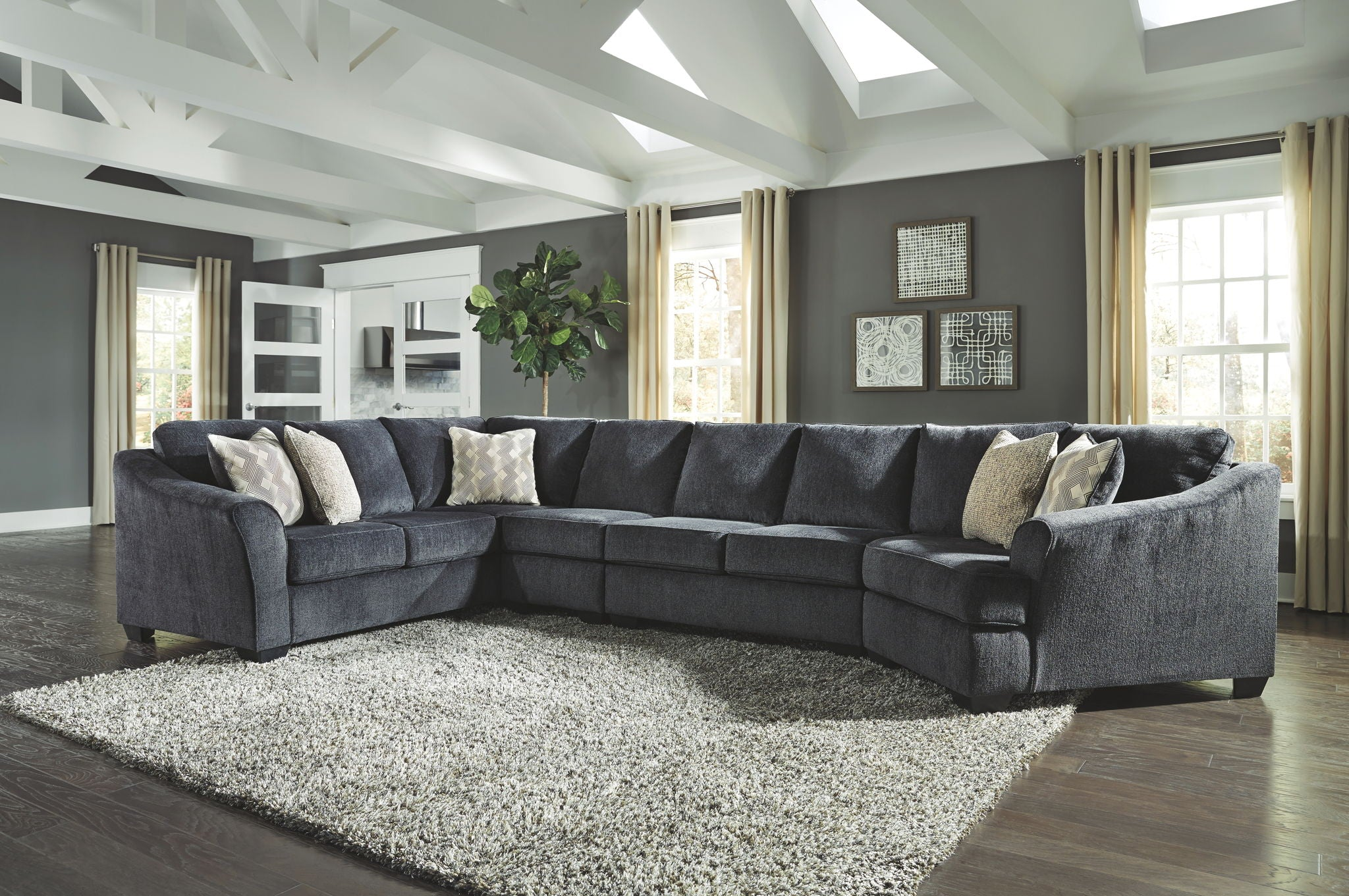 Eltmann Sectional with Cuddler | Calgary's Furniture Store