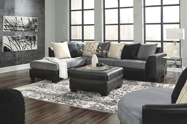 Jacurso Sectional with Chaise | Calgary's Furniture Store