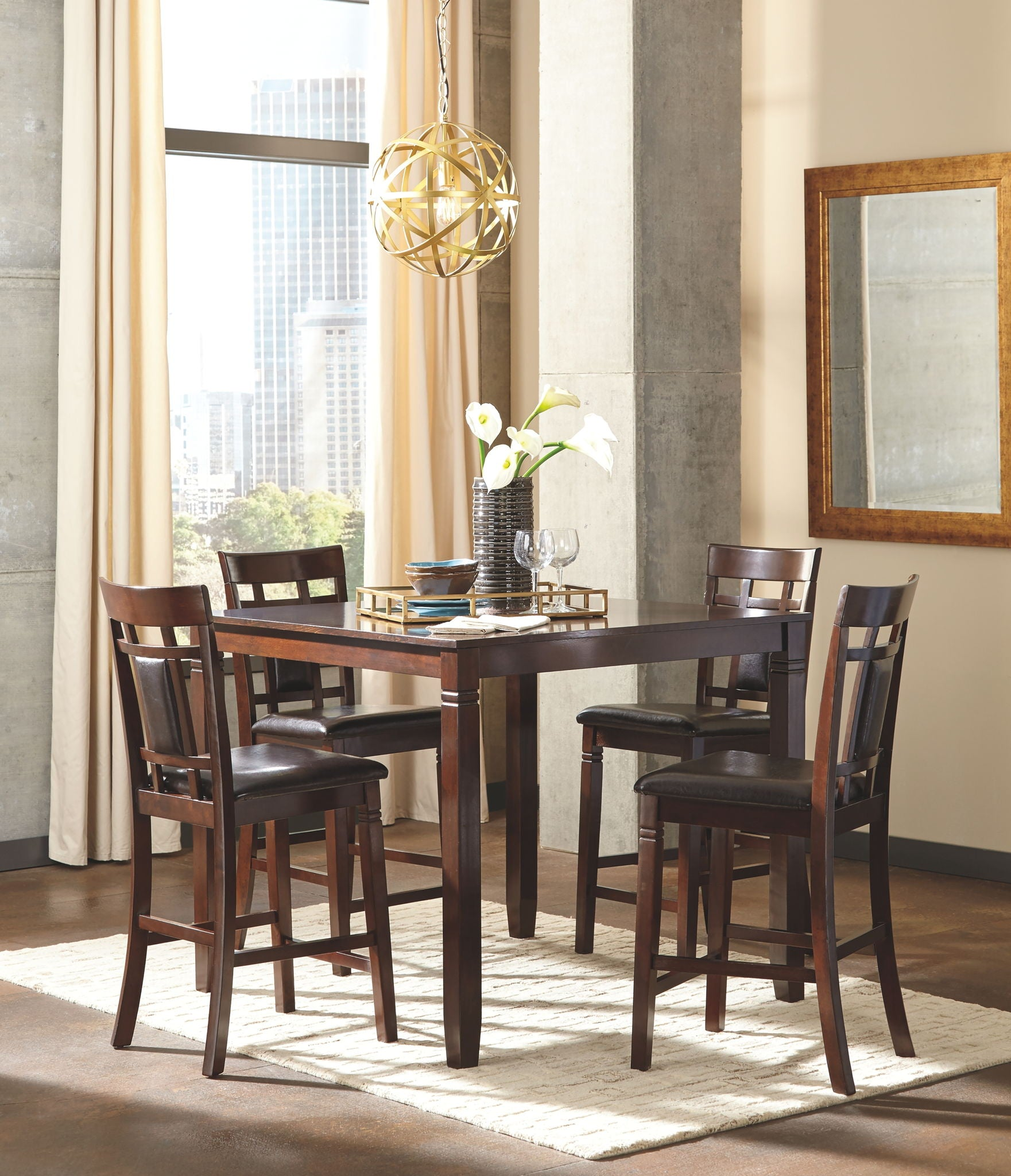 Bennox Counter Height Dining Room Table and Bar Stools (Set of 5) | Calgary's Furniture Store