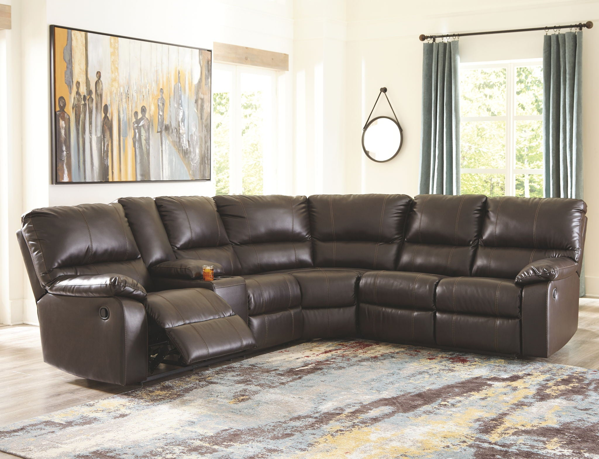 Warstein Reclining Sectional | Calgary's Furniture Store