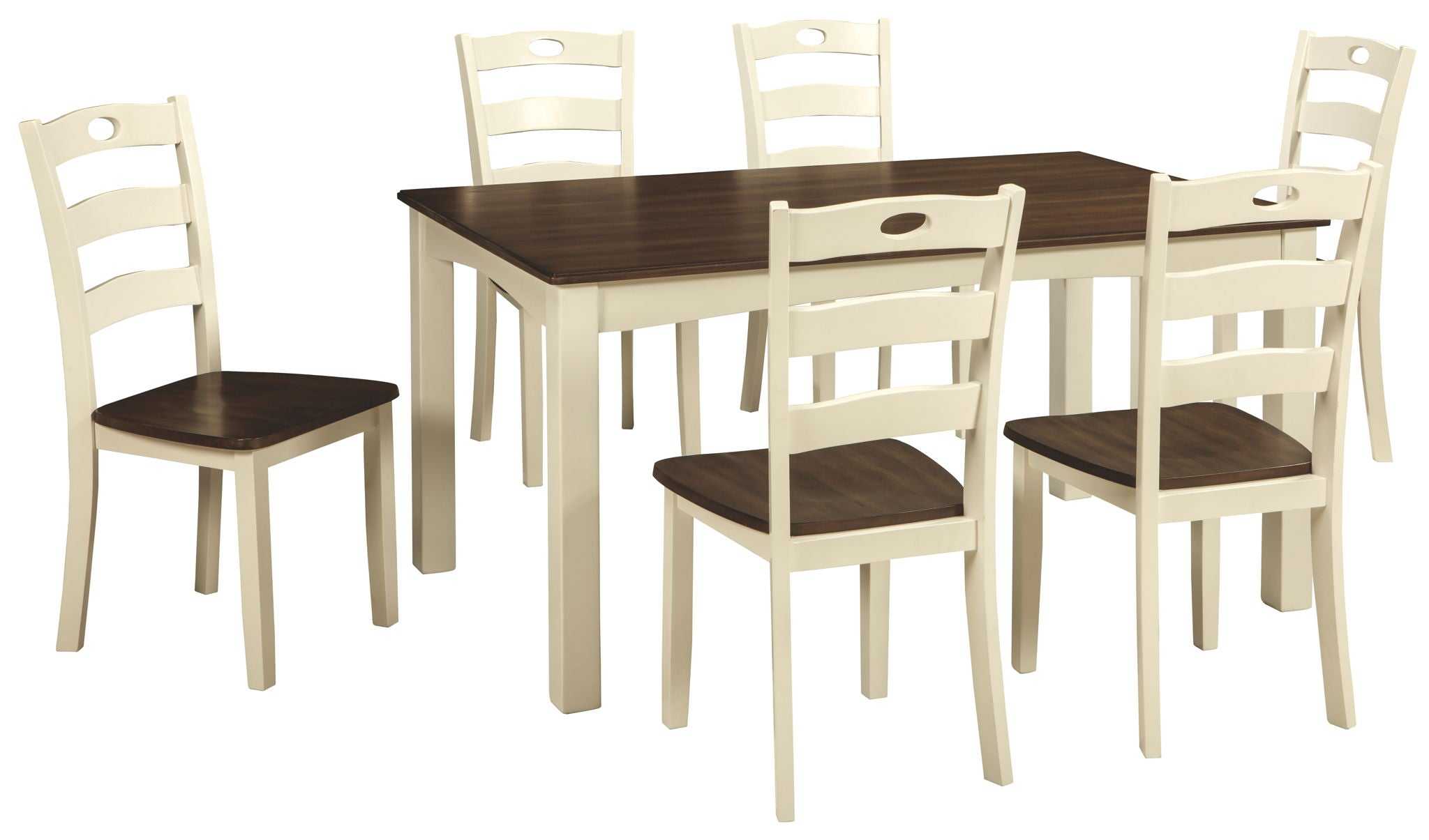 Woodanville Dining Room Table and Chairs (Set of 7) | Calgary's Furniture Store