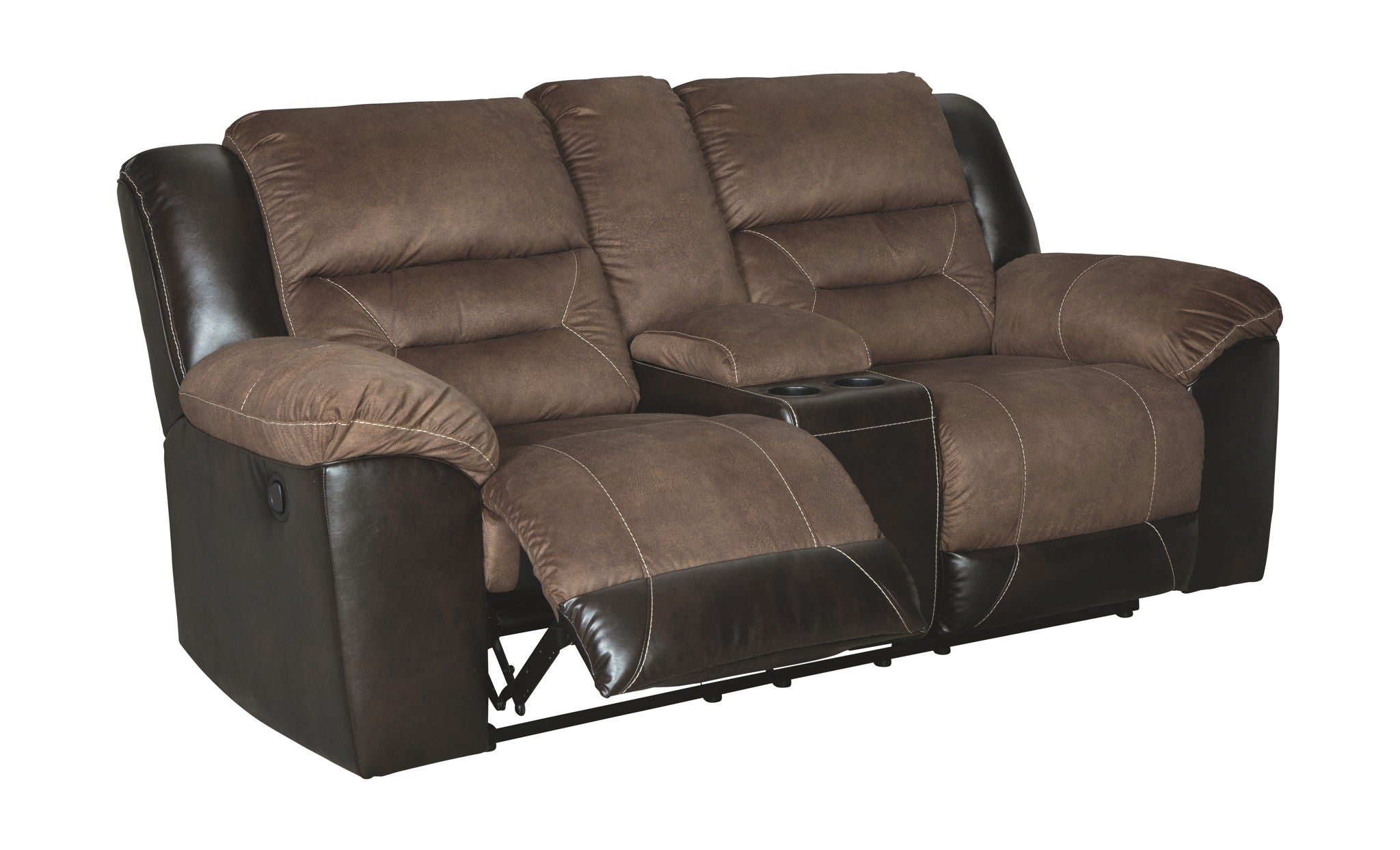 Earhart Reclining Loveseat with Console | Calgary's Furniture Store