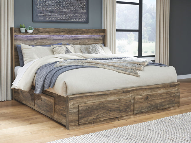 Rusthaven Storage Panel Bed | Calgary's Furniture Store
