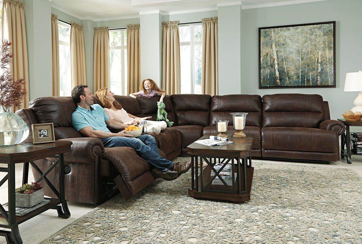 Luttrell Reclining Sectional | Calgary's Furniture Store