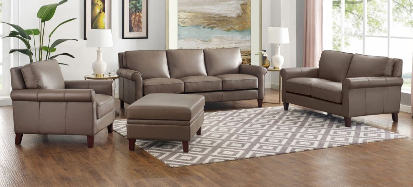 New London Top Grain Custom Leather | Sofas | Showhome Furniture